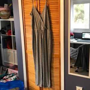 Express One Eleven gray lounge jumpsuit size L